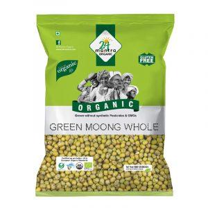 24 Mantra Organic Green Moong Dal 500 g