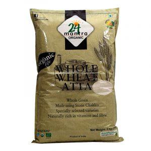 24 Mantra Organic Whole Wheat Atta 5 kg