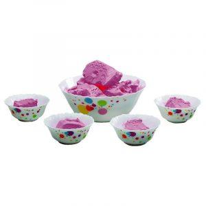 Borosil Larah Opal Glass Pudding Set 5 N