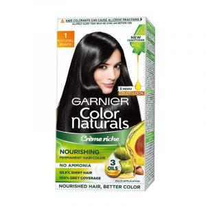 Garnier Natural Black Hair Colour Shade No 1 70 ml + 60 g