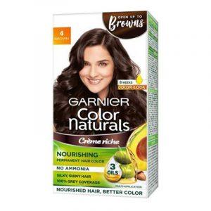 Garnier Natural Brown Hair Colour Shade No 4 70 ml + 60 g
