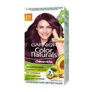 Garnier Natural Burgundy Hair Colour Shade No 3.16 70 ml + 60 g