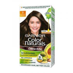Garnier Natural Darkest Brown Hair Colour Shade No 3 70 ml + 60 g