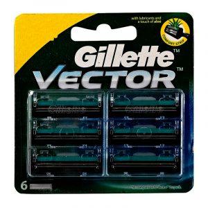 Gillette Vector Plus Cartridge 6 N
