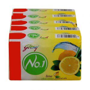 Godrej No.1 Lime & Aloe Vera Soap 4 N (100 g Each)
