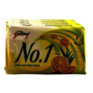 Godrej No.1 Lime & Aloe Vera Soap 4 N (63 g Each)