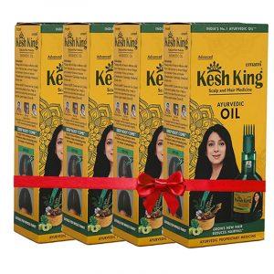 Kesh King Ayurvedic Hair Oil 4 N (100 ml Each)