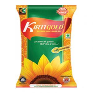 Kirti Gold Sunflower Oil Pouch, 1 L