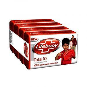 Lifebuoy Total Soap 4 N (62 g Each)