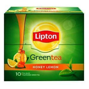 Lipton Green Tea Bags Honey Lemon, 10 N