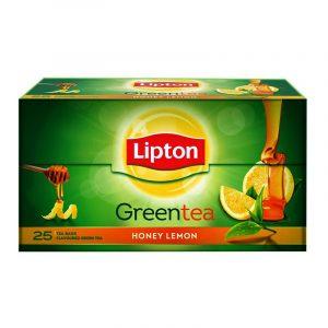 Lipton Lemon Honey Green Tea Bags Sachet, 25 N