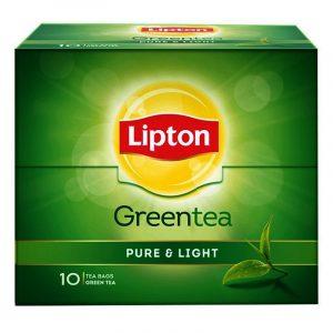 Lipton Pure & Light Green Tea Bags 10 N
