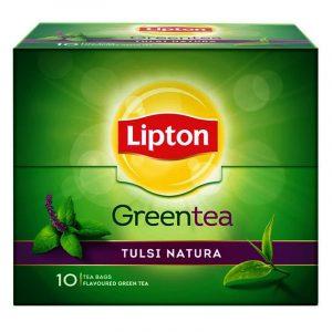 Lipton Tulsi Natura Green Tea Bags 10 N