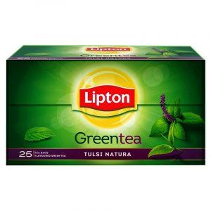 Lipton Tulsi Natura Green Tea Bags Sachet, 25 N