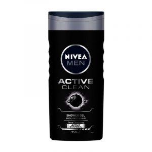 Nivea Active Clean Shower Gel Active Charcoal, 250 ml