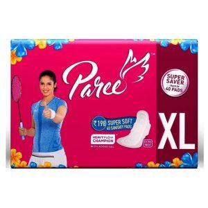 Paree Sanitary Napkin Super Soft, XL Wings, 40 N