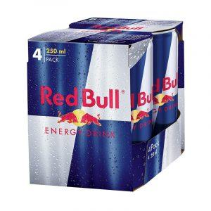 Red Bull Energy Drink Can, 4 N (250 ml Each)