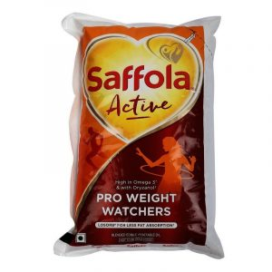 Saffola Active Pro Weight Watchers Edible Oil – 1 L Pouch