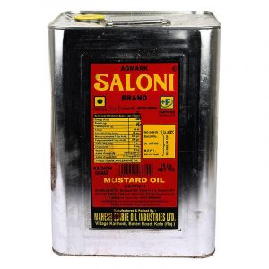 Saloni Mustard Oil Tin, 15 L
