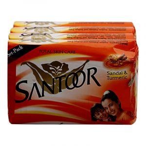 Santoor Soap 4 N (75 g Each)