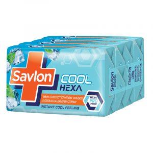 Savlon Cool Hexa Soap 3 N + 1 N (75 g Each)