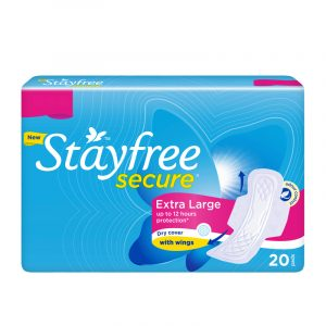 Stayfree Secure Dry Sanitary Napkin XL with Wings, 20 N