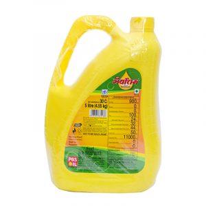 Super Sarvottam Rice Bran Oil Jar, 5 L