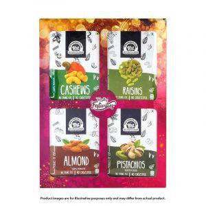Wonderland Festive Fiesta Dry Fruit Gift Pack, 800 g