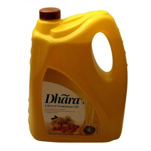 Dhara Groundnut Oil Jar, 5 L