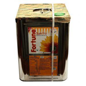 Fortune Sunflower Oil Tin, 15 L